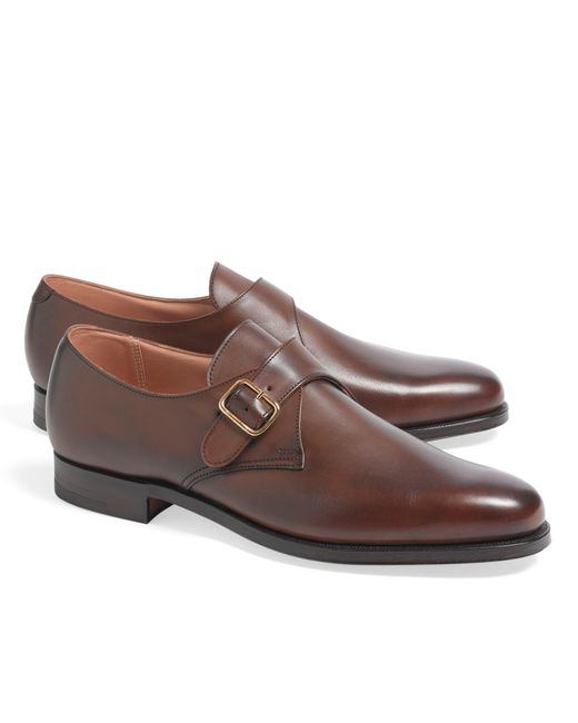 Brooks Brothers | Brown Peal & Co.® Monk Straps for Men | Lyst