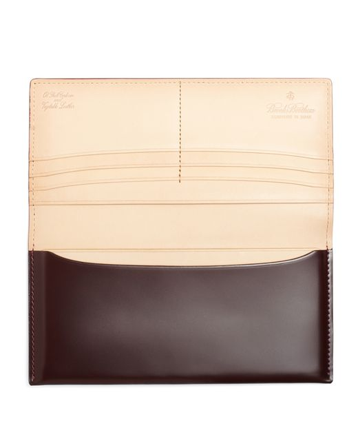 Brooks Brothers | Brown Cordovan Long Wallet for Men | Lyst
