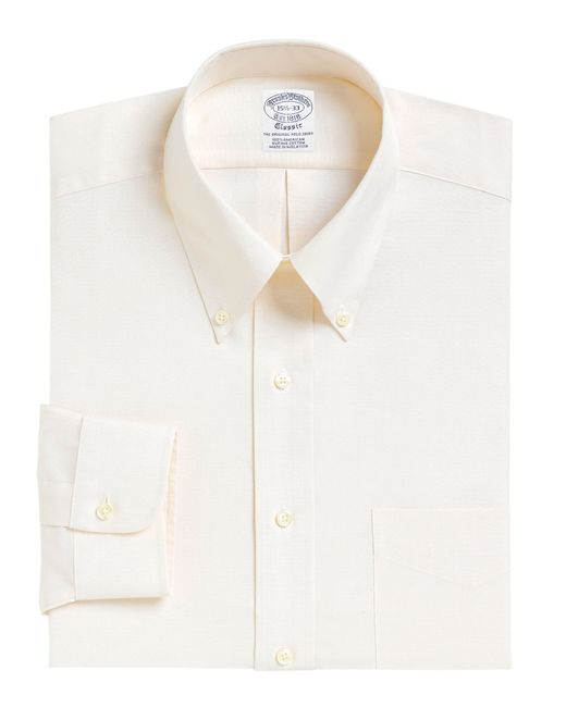 Brooks Brothers | Natural Regent Fit Button-down Collar Dress Shirt for Men | Lyst