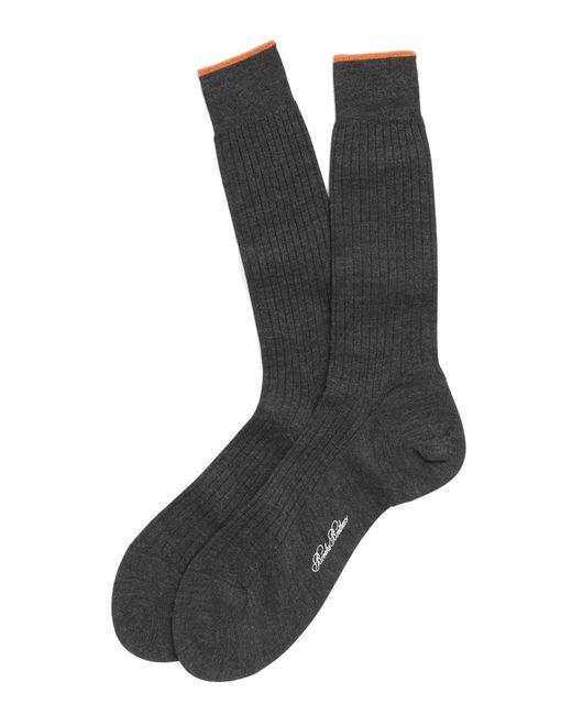 Brooks Brothers | Gray Merino Wool Golden Fleece® Sized Crew Socks for Men | Lyst