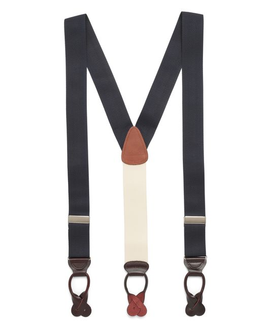 Brooks Brothers | Blue Solid Suspenders for Men | Lyst