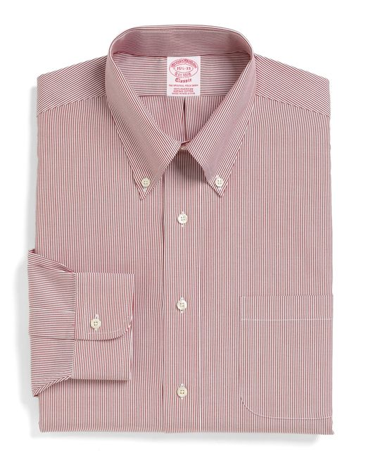Brooks Brothers | Red Milano Fit Stripe Dress Shirt for Men | Lyst