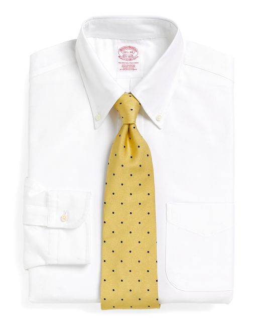 Brooks Brothers | White Traditional Fit Button-down Collar Dress Shirt for Men | Lyst