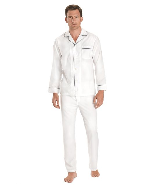 Brooks Brothers | White Wrinkle-resistant Broadcloth Pajamas for Men | Lyst