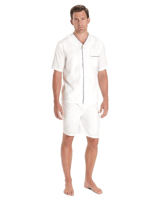 Brooks Brothers | White Wrinkle-resistant Short Pajamas for Men | Lyst