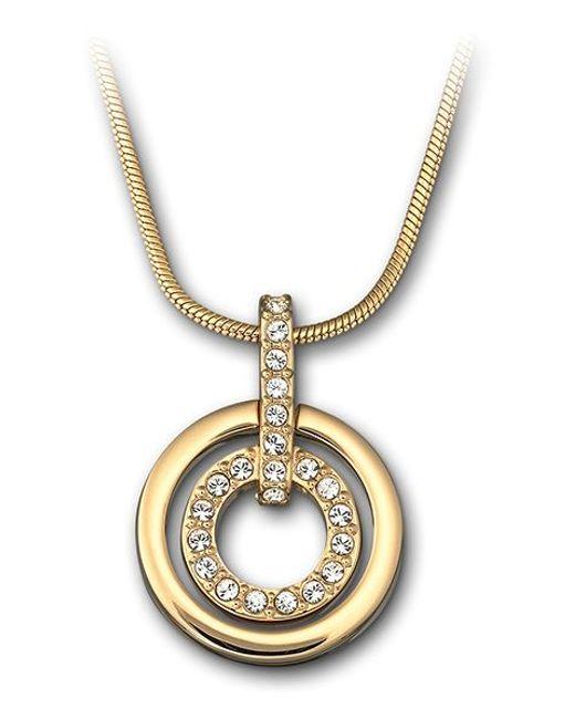 Swarovski | Metallic Circle Pendant | Lyst