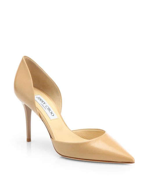 Jimmy Choo | Beige Addison Leather D'orsay Pumps | Lyst