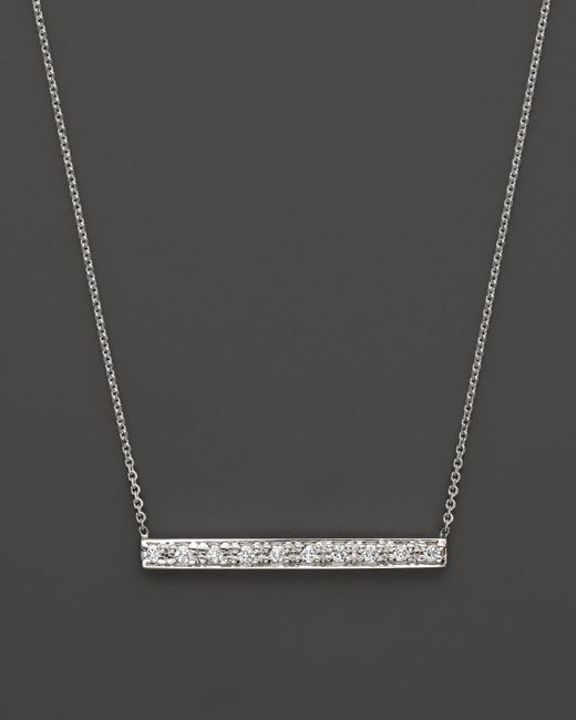 KC Designs | Diamond Bar Pendant Necklace In 14 White Gold, .10 Ct. T.w. | Lyst