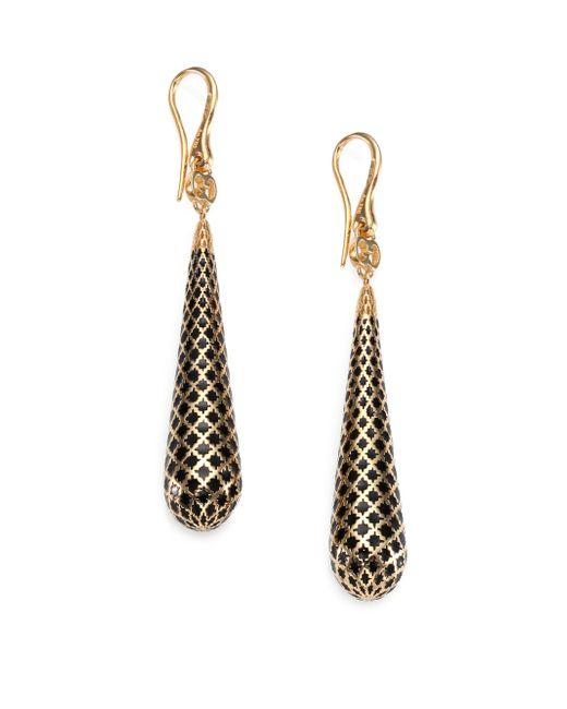 Gucci | Metallic Diamantissima Enamel & 18k Yellow Gold Teardrop Earrings/black | Lyst