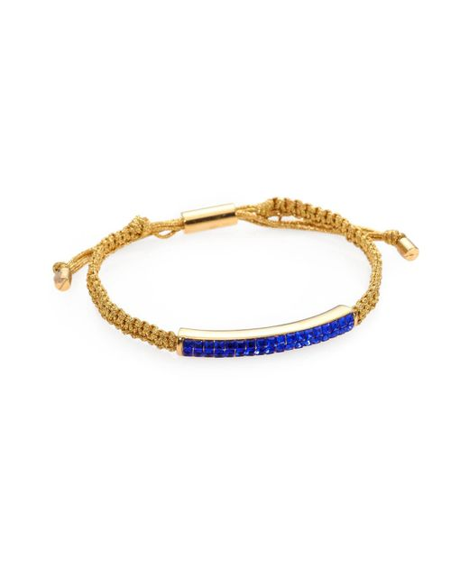 Michael Kors | Metallic Pavé Beaded Slider Bracelet | Lyst