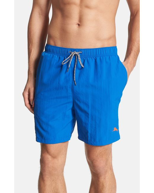 Tommy Bahama | Blue 'happy Go Cargo' Swim Trunks for Men | Lyst