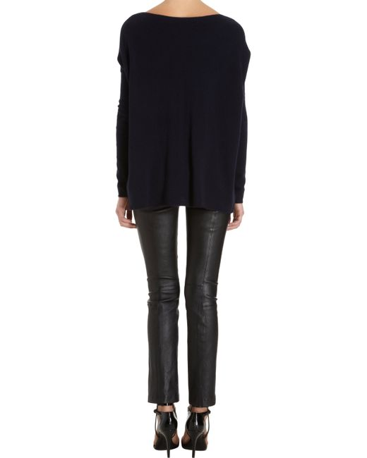 VINCE | Black Twill Relaxed Cropped Pants | Lyst