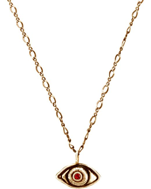 Pamela Love | Metallic Oculus Pendant With Stone | Lyst