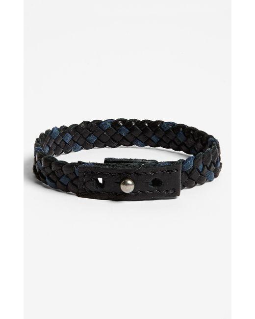 Griffin   Black Finn Leather Bracelet for Men   Lyst
