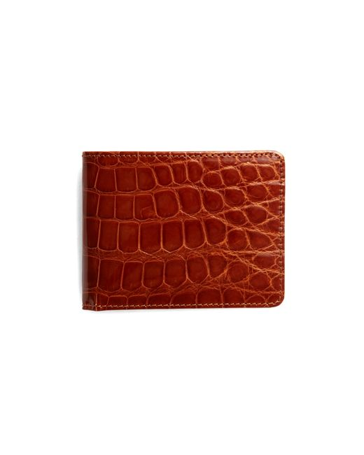 Brooks Brothers | Brown Slim Alligator Wallet for Men | Lyst