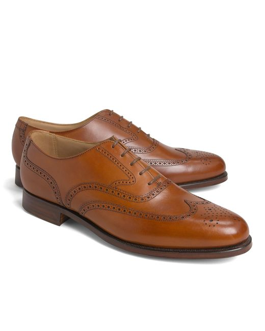 Brooks Brothers | Brown Peal & Co.® Wingtip Balmorals for Men | Lyst