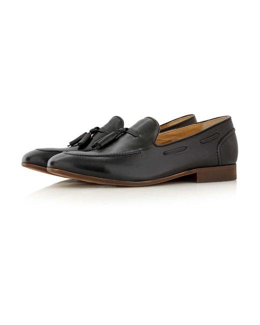 Hudson Jeans | Black Leather Tassel Loafers for Men | Lyst