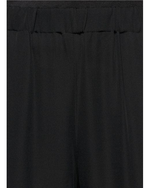 Theory | Black Thaniva Crepe Skinny Pants | Lyst
