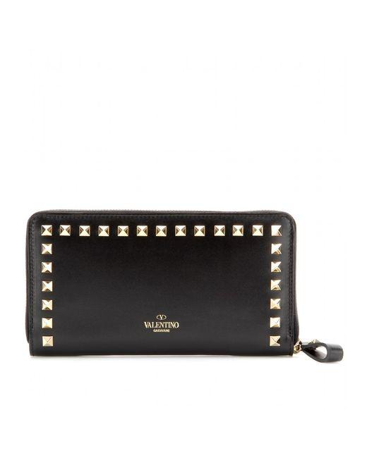 Valentino | Gold 'rockstud' Wallet | Lyst