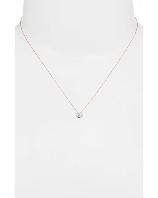 Dana Rebecca | Pink 'lauren Joy' Diamond Disc Pendant Necklace | Lyst