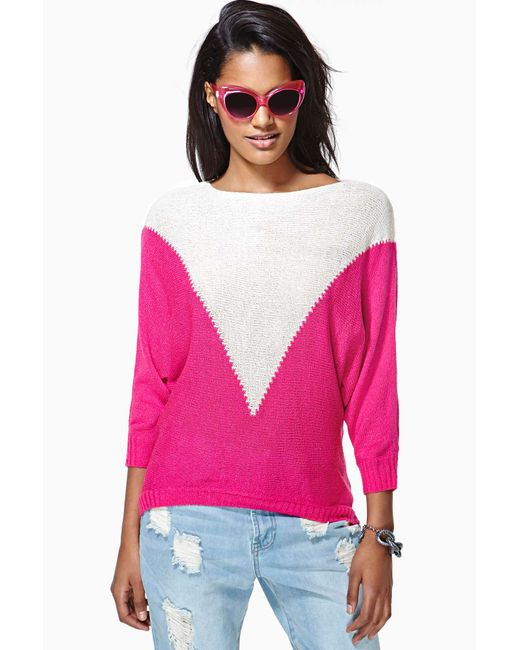 Nasty Gal | Pink Find The Spark Knit Sweater | Lyst