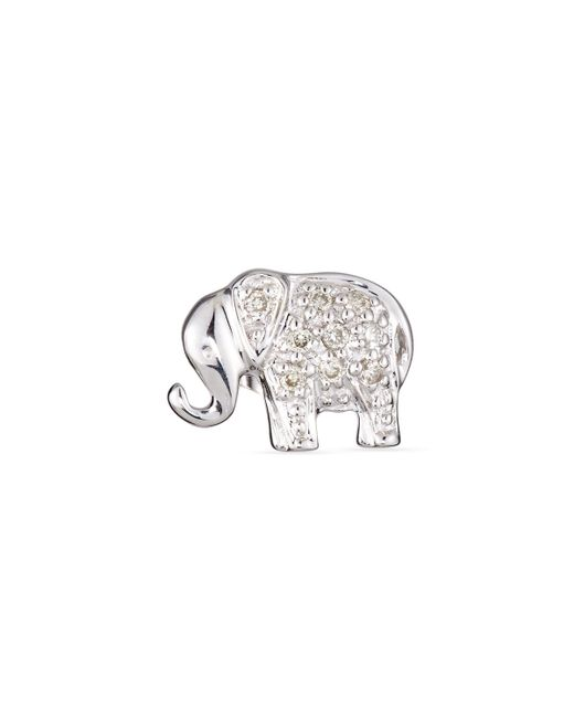 Sydney Evan   Metallic Elephant Diamond Single Stud Earring   Lyst