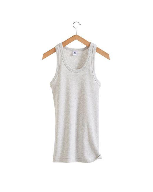 Petit Bateau | Gray Women's Iconic Cotton Vest Top | Lyst