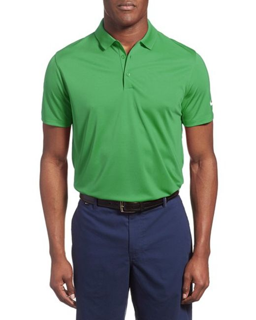 Nike 39 victory dri fit golf polo in green for men lyst for Nike dri fit victory golf shirts
