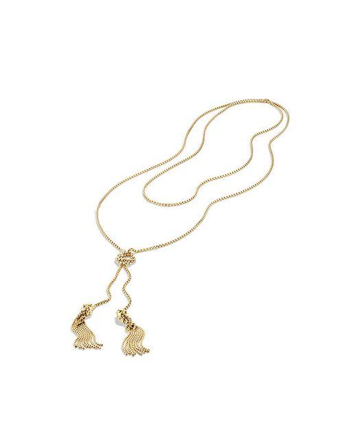 David Yurman | Metallic Tassel Necklace With 18k Gold | Lyst