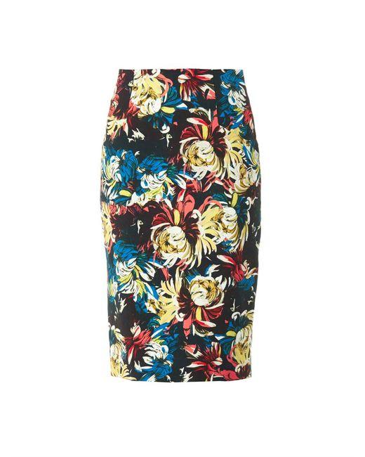 Erdem | Beige Frida Trinity Blossom-print Pencil Skirt | Lyst