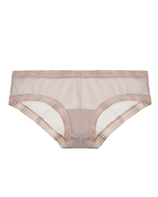 On Gossamer | Purple Solid Mesh Boyshort | Lyst