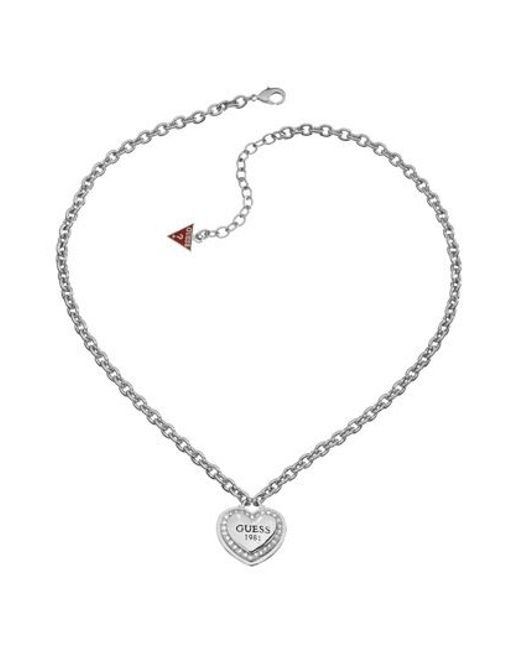 Guess | Metallic 1981 Collection Necklace | Lyst