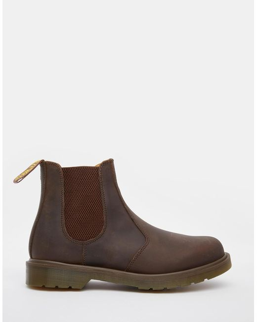 dr martens 2976 chelsea boots in brown for lyst