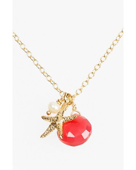 ki ele sea cluster pendant necklace in gold