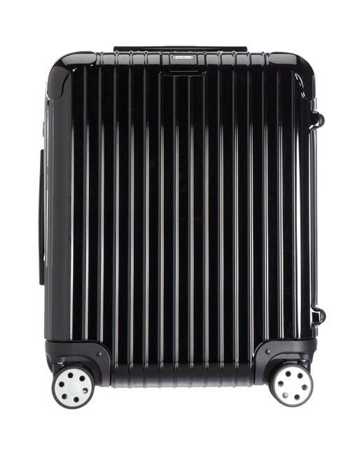 rimowa salsa deluxe 22 cabin multiwheel suitcase in black for men lyst. Black Bedroom Furniture Sets. Home Design Ideas