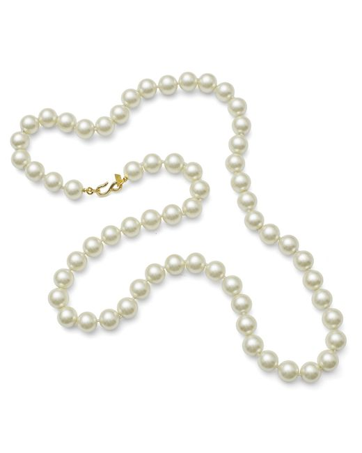 "Kenneth Jay Lane | White 36"" Pearl Necklace 