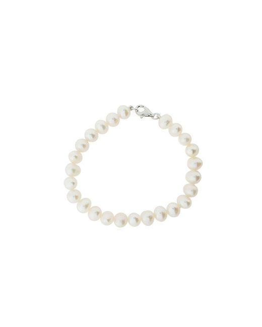 Azendi | White Freshwater Pearl And Sterling Silver Bracelet | Lyst