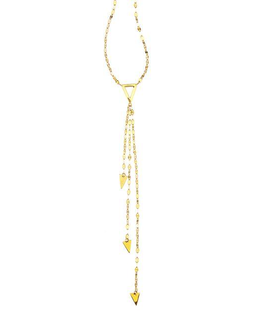 Lana Jewelry | Yellow 14k Gold Elite Tri Vista Necklace | Lyst
