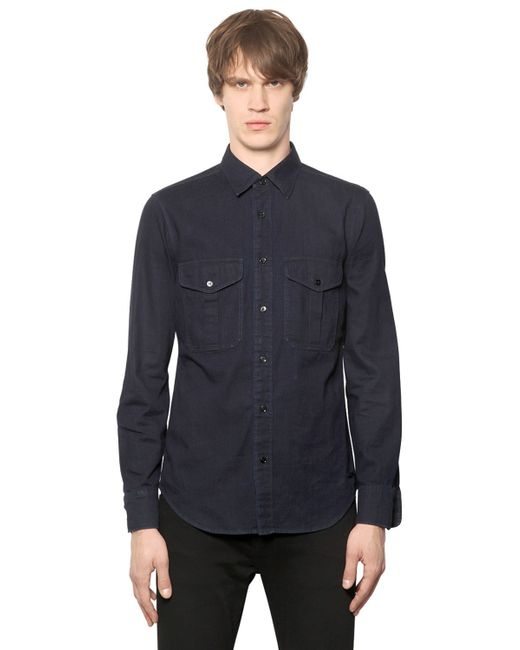 Burberry Brit | Blue Light Cotton Denim Shirt for Men | Lyst