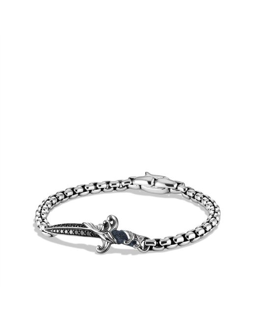 David Yurman | Waves Dagger Bracelet With Black Diamonds for Men | Lyst