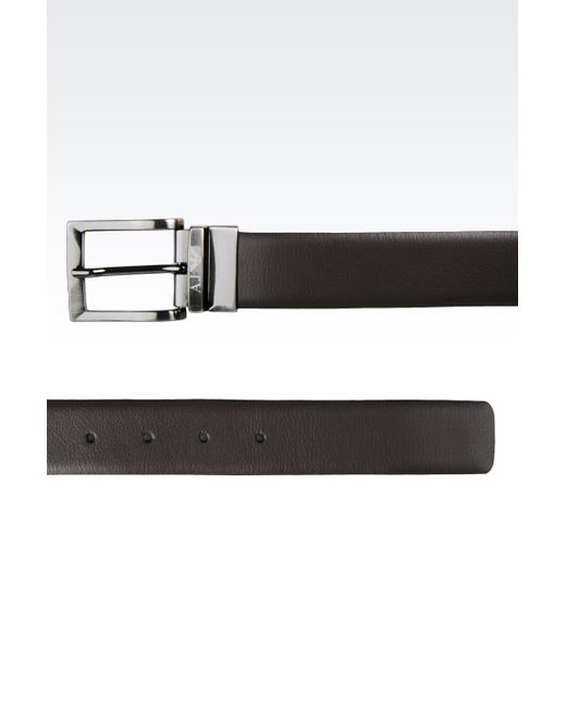 Armani Jeans | Brown Reversible Leather Belt for Men | Lyst