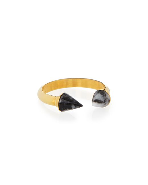 Stuart Weitzman | Metallic Mini Titan Black & White Jasper Ring | Lyst
