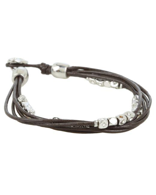 Fossil | Metallic Dainty Strands Leather Wrap Bracelet | Lyst