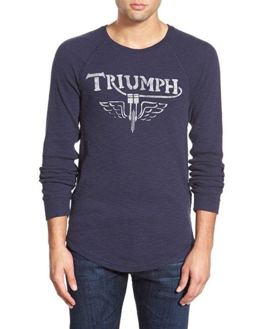 Lucky Brand Blue 39 Triumph 39 Long Sleeve Thermal T Shirt