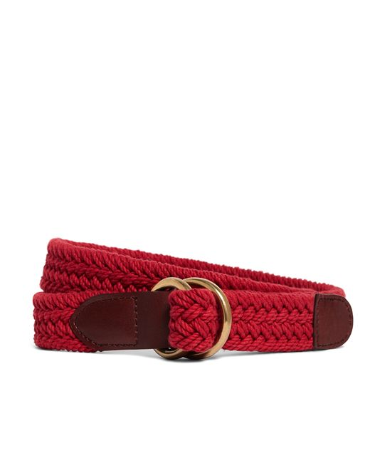 Brooks Brothers | Red Cotton Braided Belt for Men | Lyst