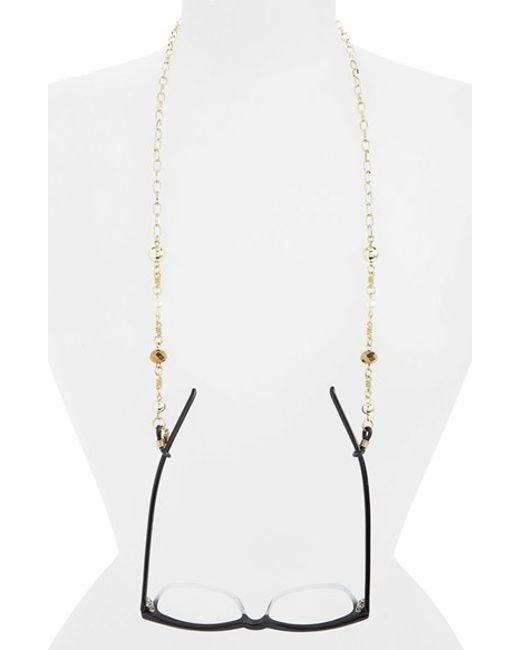 Corinne Mccormack | Metallic Beaded Eyewear Chain | Lyst