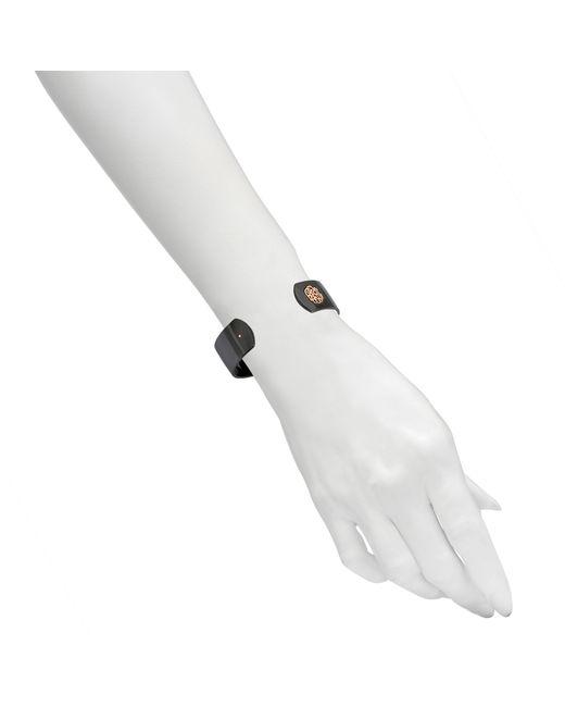 Ginette NY   Black Ceramic Monogram Bracelet   Lyst