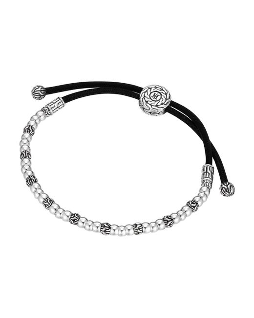 John Hardy | Gray Classic Chain Smooth Silver Cord Bracelet for Men | Lyst