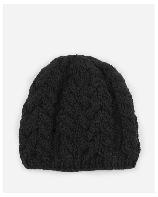 san diego hat company womens cable knit beanie in black lyst