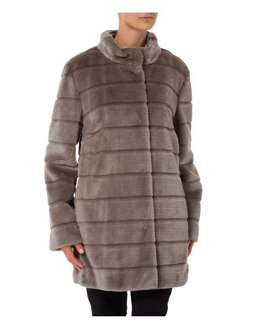 Basler | Gray Fake Fur Jacket | Lyst